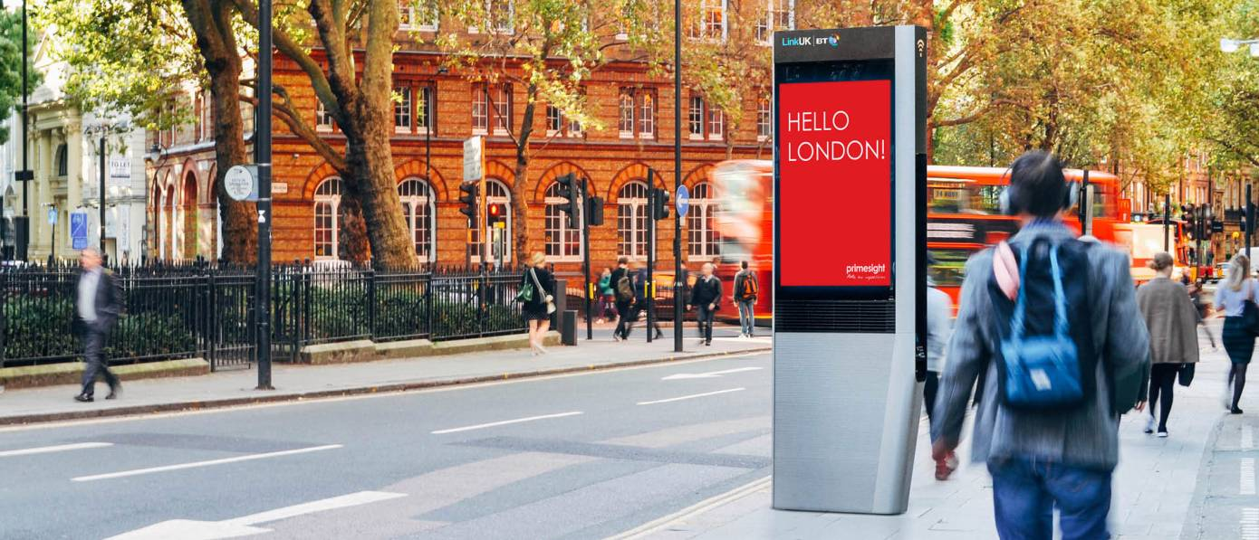 Will today's internet-connected info kiosk become tomorrow's self-driving neighborhood concierge? In London, British Telecom's InLinkUK devices are replacing the iconic red telephone booths that once filled London's walkways. (Image: InLinkUK)